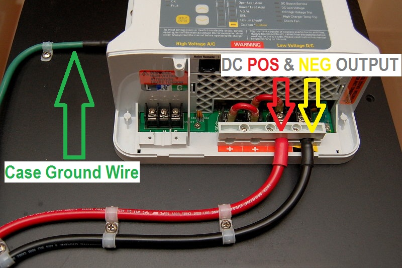 grounded b phase wiring diagram installing a marine battery charger     marine how to  installing a marine battery charger     marine how to