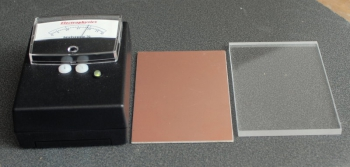 02CT33CopperPlatedCallibrationBlockAcrylicSpacer